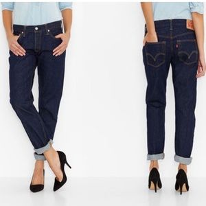 Levi's- Women's Original Fit Dark Wash 501 Jeans